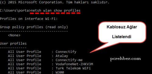 wifi kablosuz internet şifresini bulmak