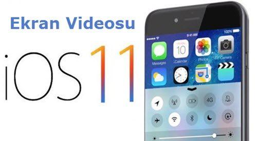 iphone ekran videosu çekmek