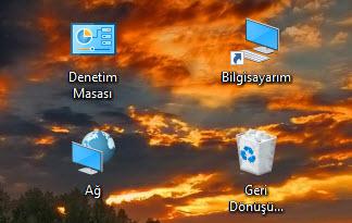 Windows 10 Masaüstü Simgelerini Görünür Yapmak