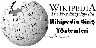 Wikipedia Giriş Yöntemleri