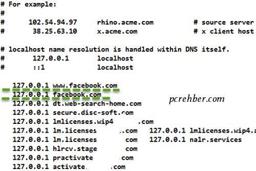 windows 10 host dosyası düzenlemek