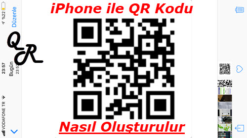 iphone qr kodu nasıl yapılır