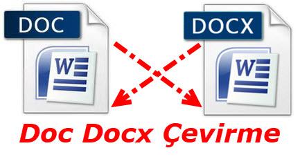 doc docx çevirme