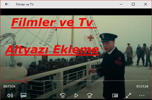 Filmler ve TV Altyazı Ekleme