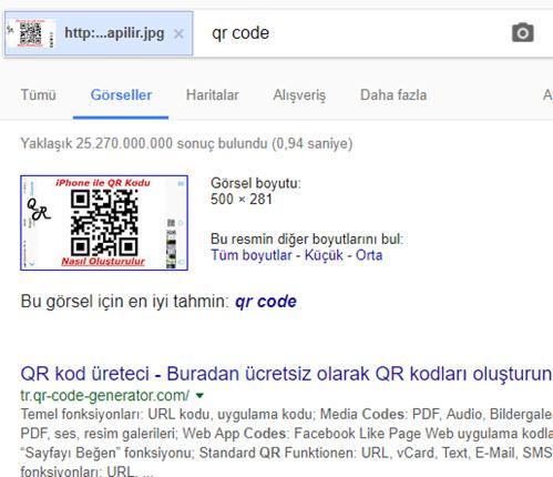 google görsel arama yapma