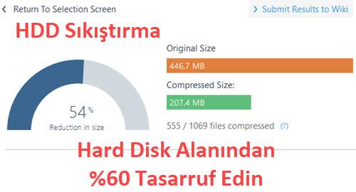 hard disk sıkıştırma nasıl yapılır