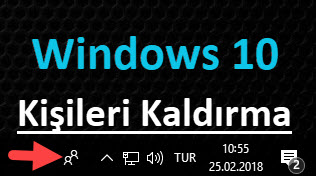 windows 10 kişiler uygulamasını kapatma