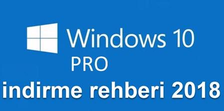Windows 10 Pro indirme rehberi