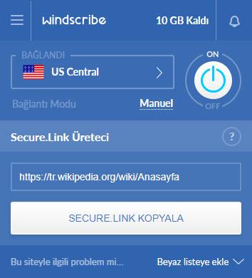 yasaklı sitelere giriş windscribe vpn