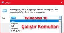 Windows 10 Çalıştır Komutları