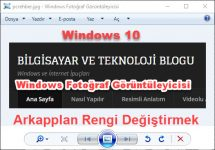 Windows 10 Fotoğraf Görüntüleyici Etkinleştirme