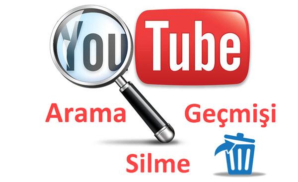 youtube arama geçmişi silme