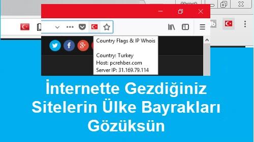 gezdiğiniz sitelerin ülke bayrağını görme