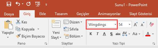 powerpoint font değiştirme