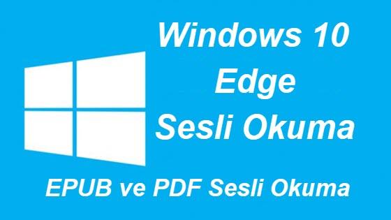 windows 10 pdf okuyucu