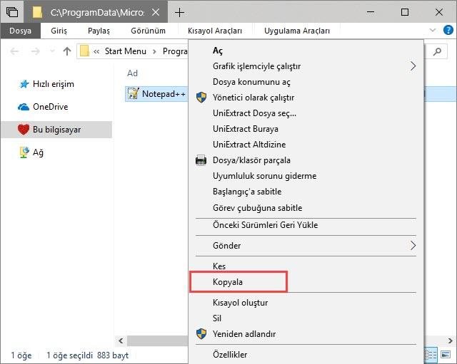 windows 10 otomatik program başlatma