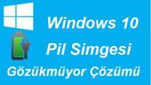 Windows 10 Pil Simgesi Gözükmüyor
