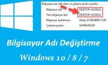 Windows 10 Bilgisayar Adını Değiştirme