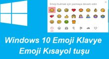 Windows 10 Emoji Klavye