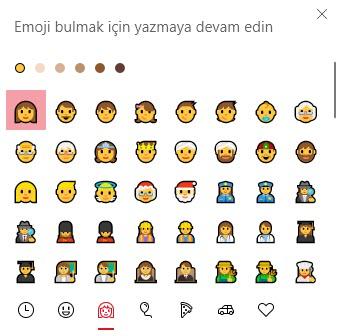 windows 10 emoji klavye