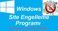 Windows 10 Site Engelleme Programı
