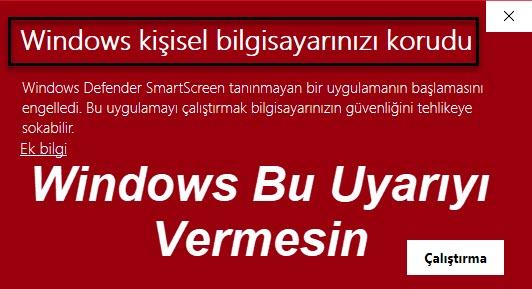 windows kişisel bilgisayarınızı korudu