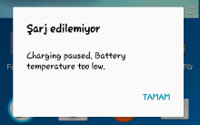 Charging paused battery temperature too low hatası