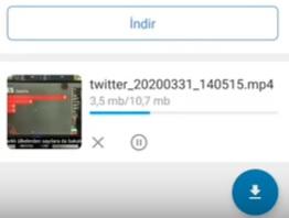 Twitter videoları telefona nasıl İndirilir