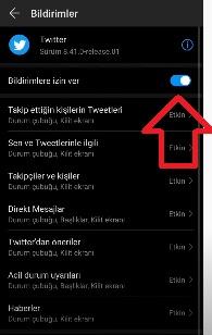 Huawei Twitter bildirim sorunu çözümü