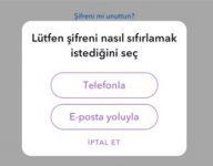 Snapchat şifre yanlış diyor