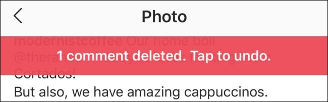 Instagram'da silinen yorumu geri almak