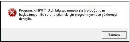 XINPUT1_3.dll hatası çözümü