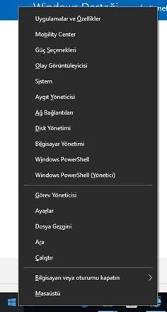 Windows 7,8,10 da sabit disk büyütme küçültme programsız