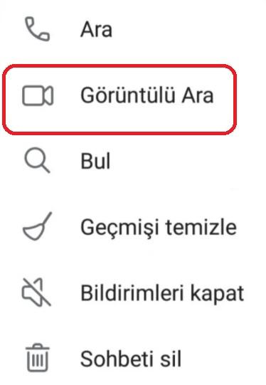 Telegram görüntülü arama