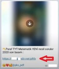 Telegram dosya indirme