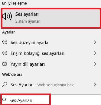 Windows 10 bildirim sesi kapatma