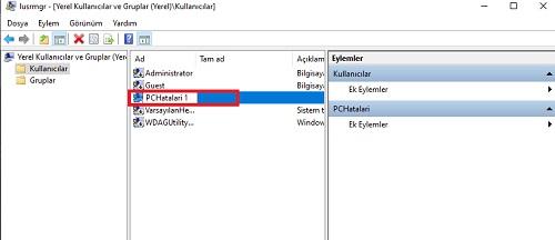 Windows 10 kullanıcı adı değiştirme