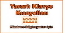 En çok kullanılan klavye kısayolları