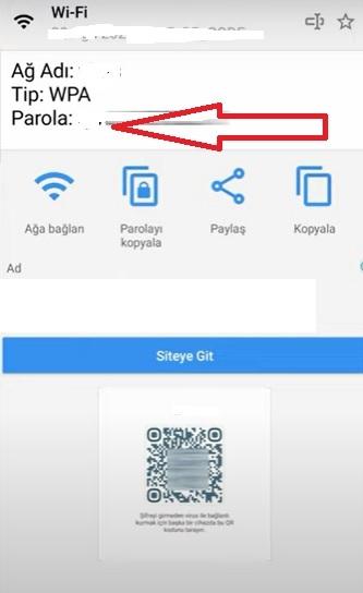 Telefondan wifi şifresi öğrenme Samsung